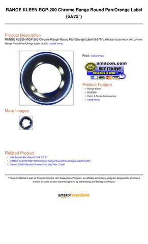 Camco 00363 Round Chrome Gas Drip Pan 7-Inch