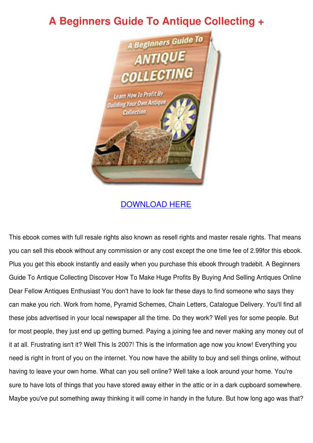 A Beginners Guide To Antique Collecting by Vashti Canel - issuu