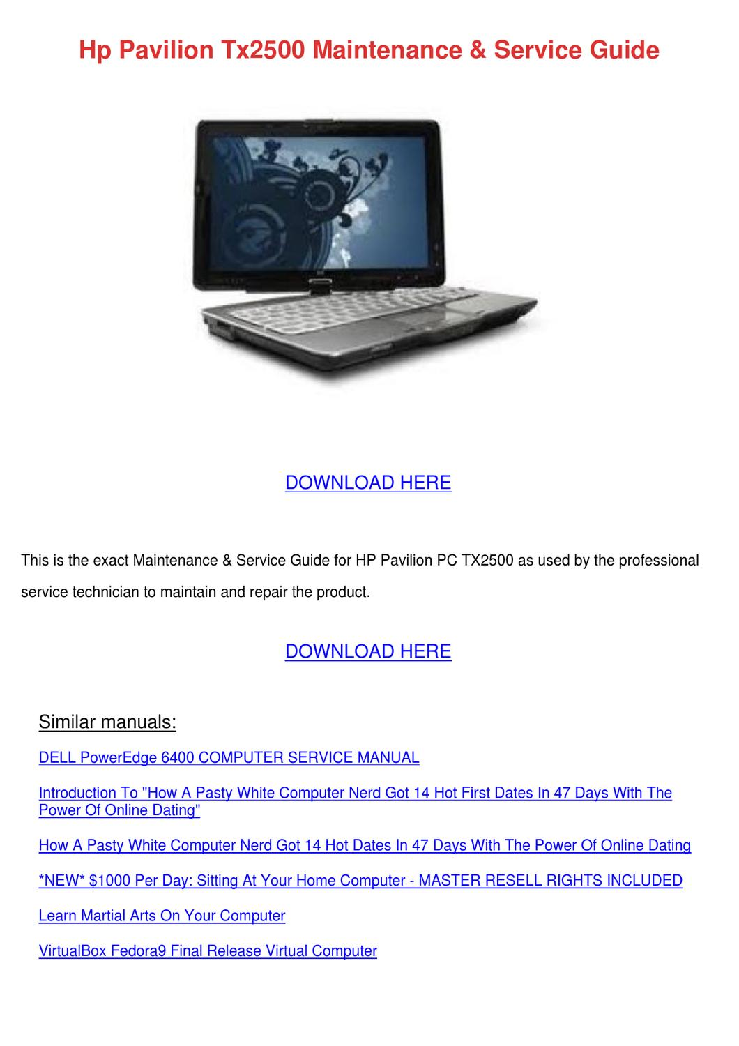 Hp Pavilion Tx2500 Maintenance Service Guide by Norene Jeffry - issuu