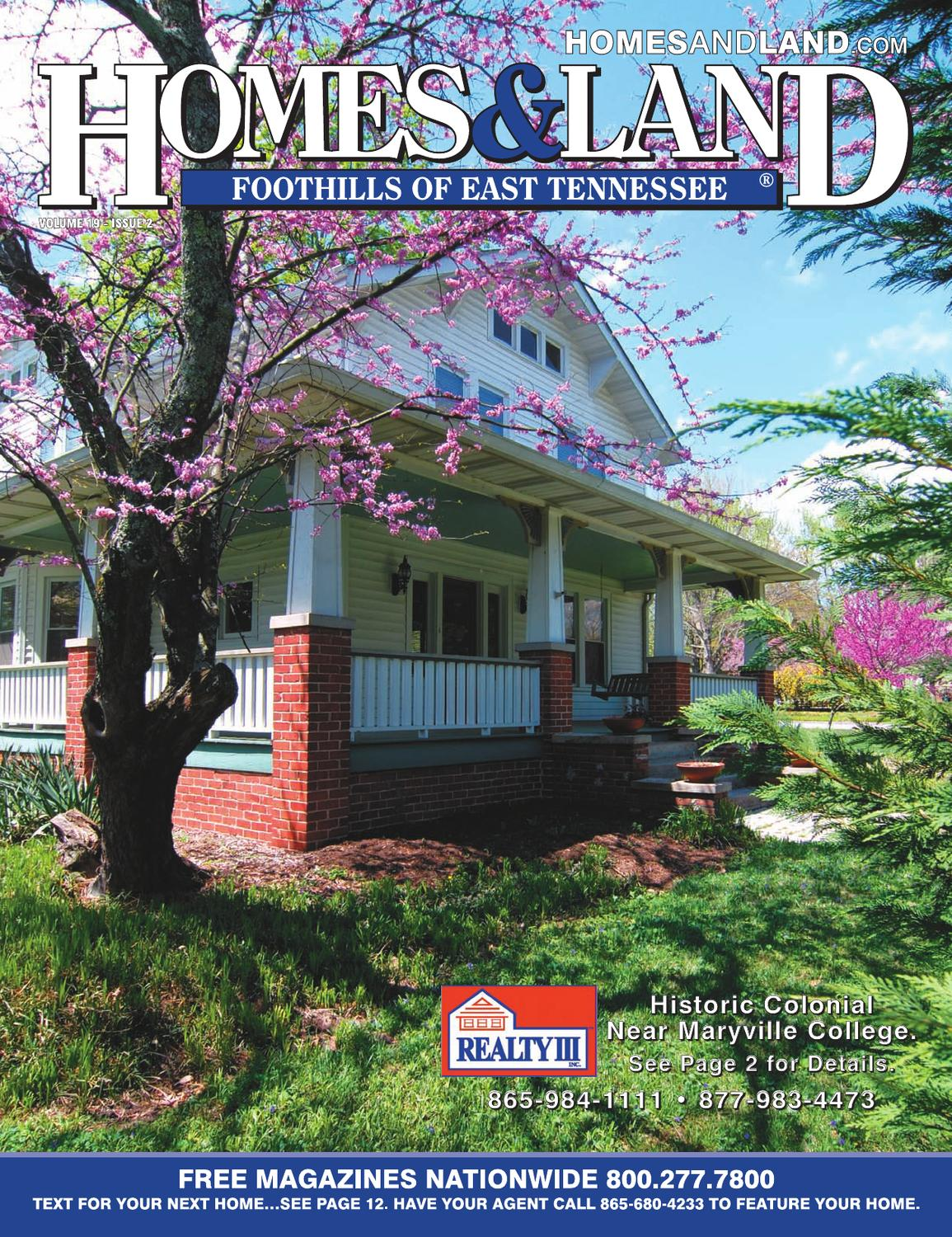 Homes land foothills of east tennessee vol 19 issue 2 by for East tennessee home builders