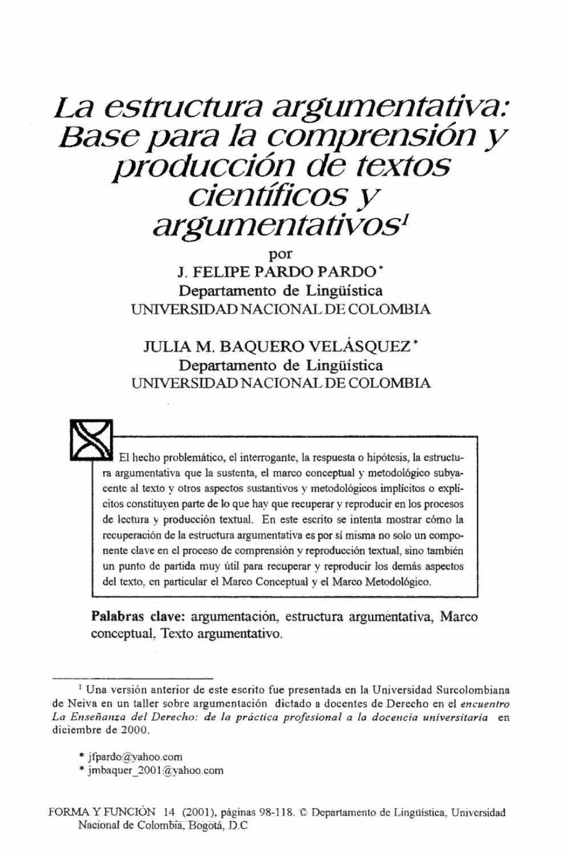 La Estructura Argumentativa By Grupo De Apoyo A Cursos