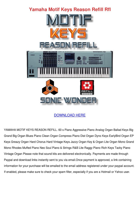Yamaha Motif Keys Reason Refill Rfl by Delphine Doehring - issuu