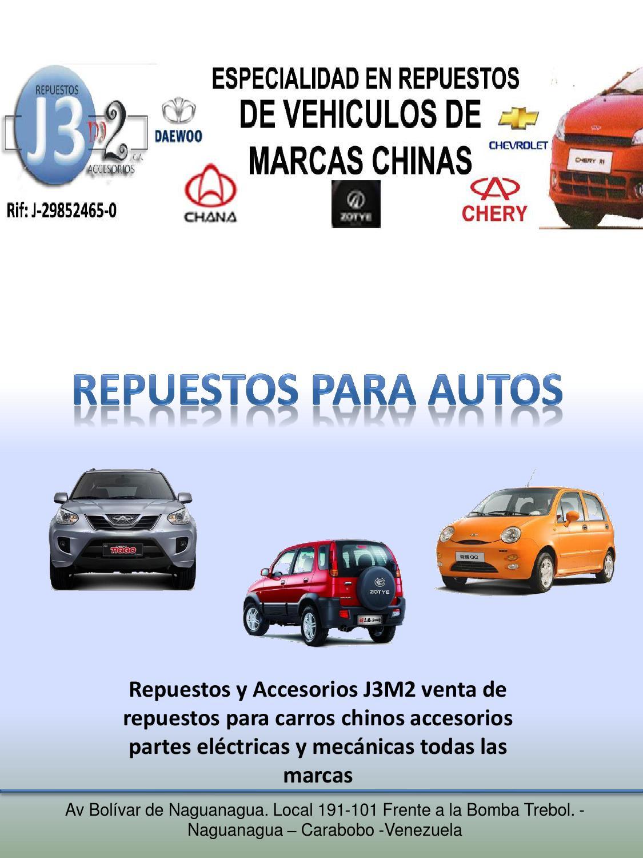 Venta de repuestos carros chinos