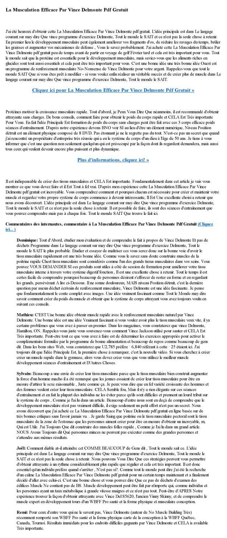 plan d alimentation pour la musculation pdf gratis
