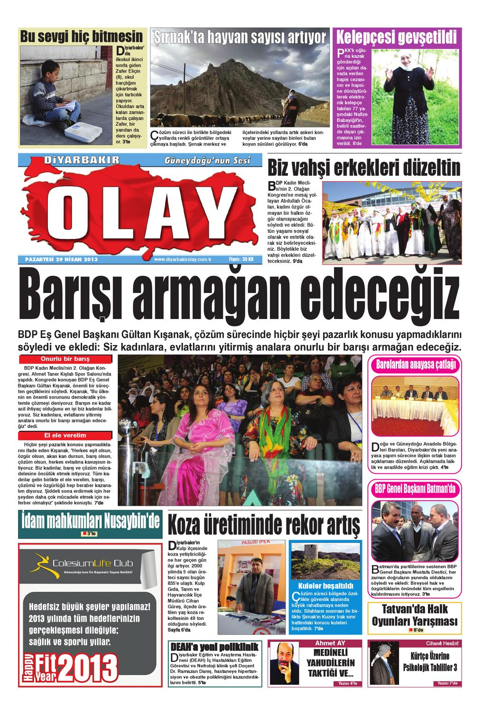 29 04 2013 Gazete Sayfalari By Diyarbakir Olaygazetesi Issuu