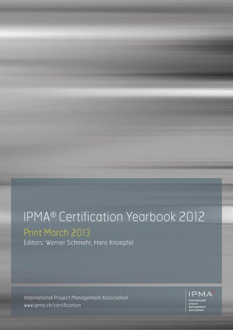 IPMA Certification Yearbook 2012 by AEIPRO - issuu
