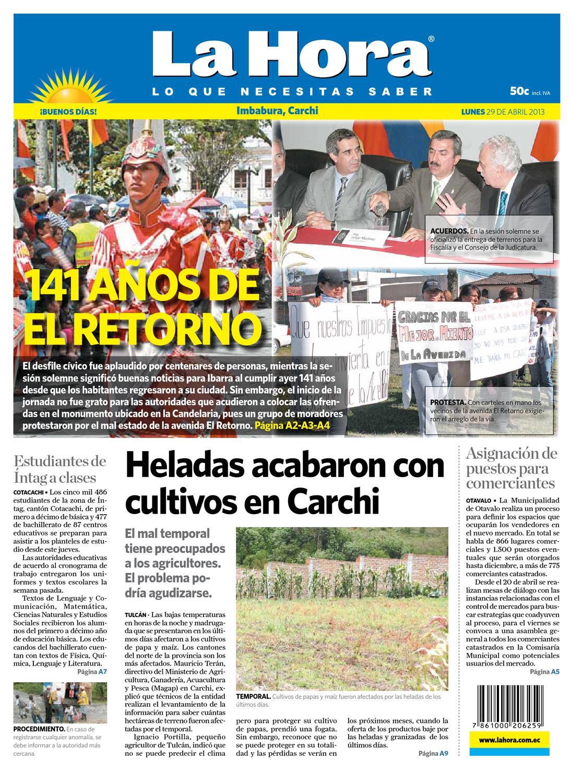 Edici N Impresa Norte Del 29 De Abril De 2013 By Diario La Hora  # Muebles Wimpy Jg