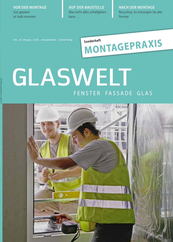glaswelt sonderheft montagepraxis by alfons w gentner. Black Bedroom Furniture Sets. Home Design Ideas