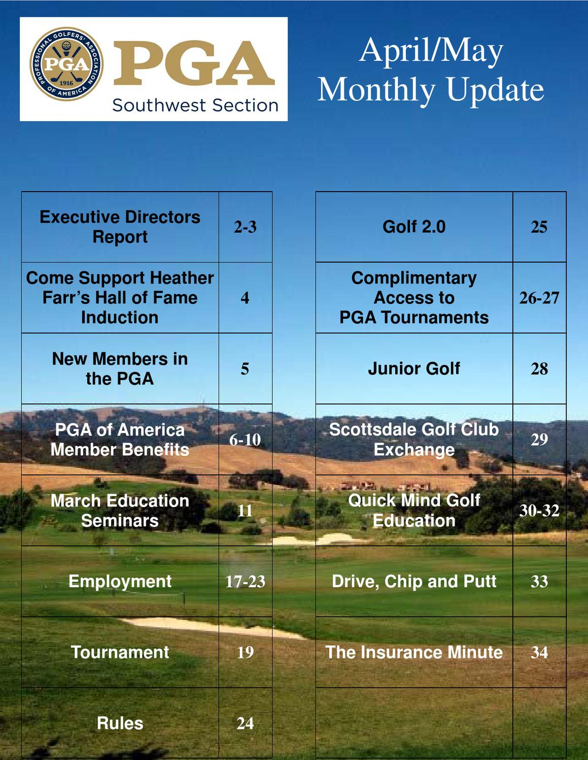 April/May Monthly Update by Southwest Section PGA - Issuu