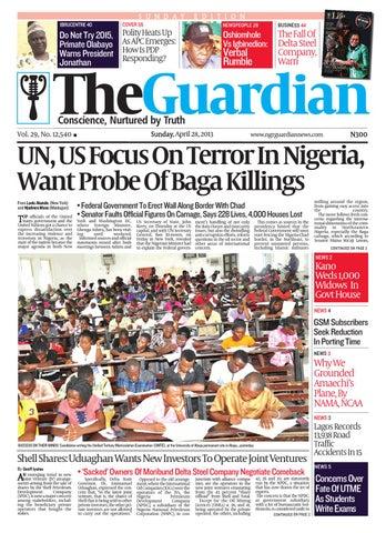 6b0b2295fe48 Sat 27 Apr 2013 The Guardian Nigeria by The Guardian Newspaper - issuu
