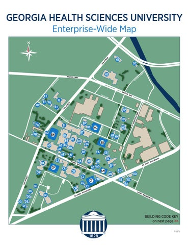 Uga Health Sciences Campus Map.Health Sciences Campus Map By Augusta University Issuu