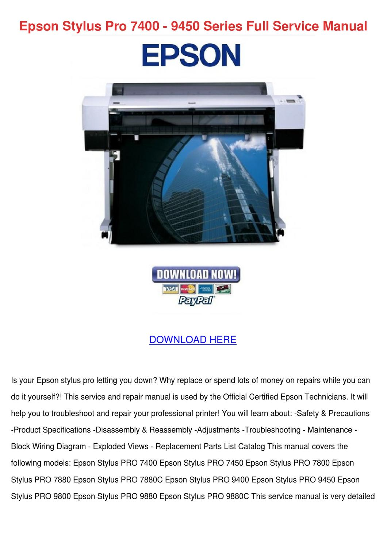 epson stylus pro 7400 9450 series full servic by temika jawad issuu rh issuu com Epson Stylus Pro 9600 Epson 9600 Printer