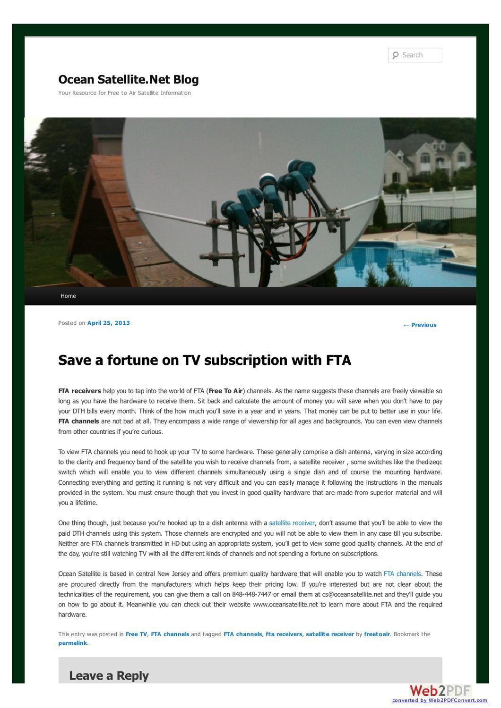 HDTV on FTA satellite