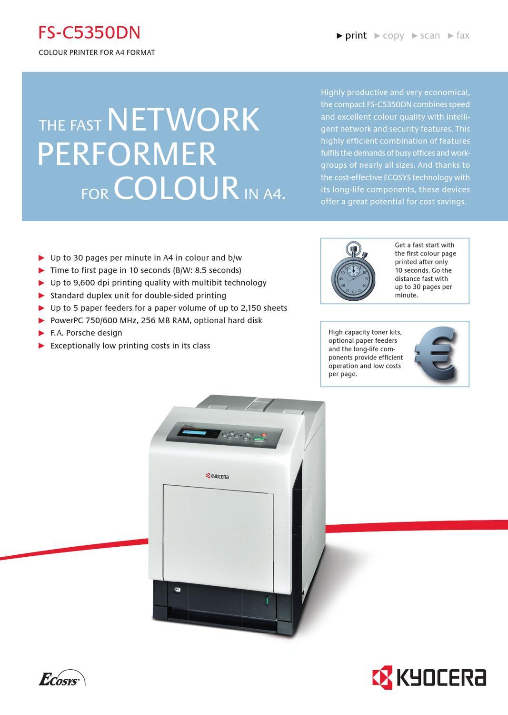 Kyocera ECOSYS FS-C5350DN KPDL Printer Treiber Windows 7