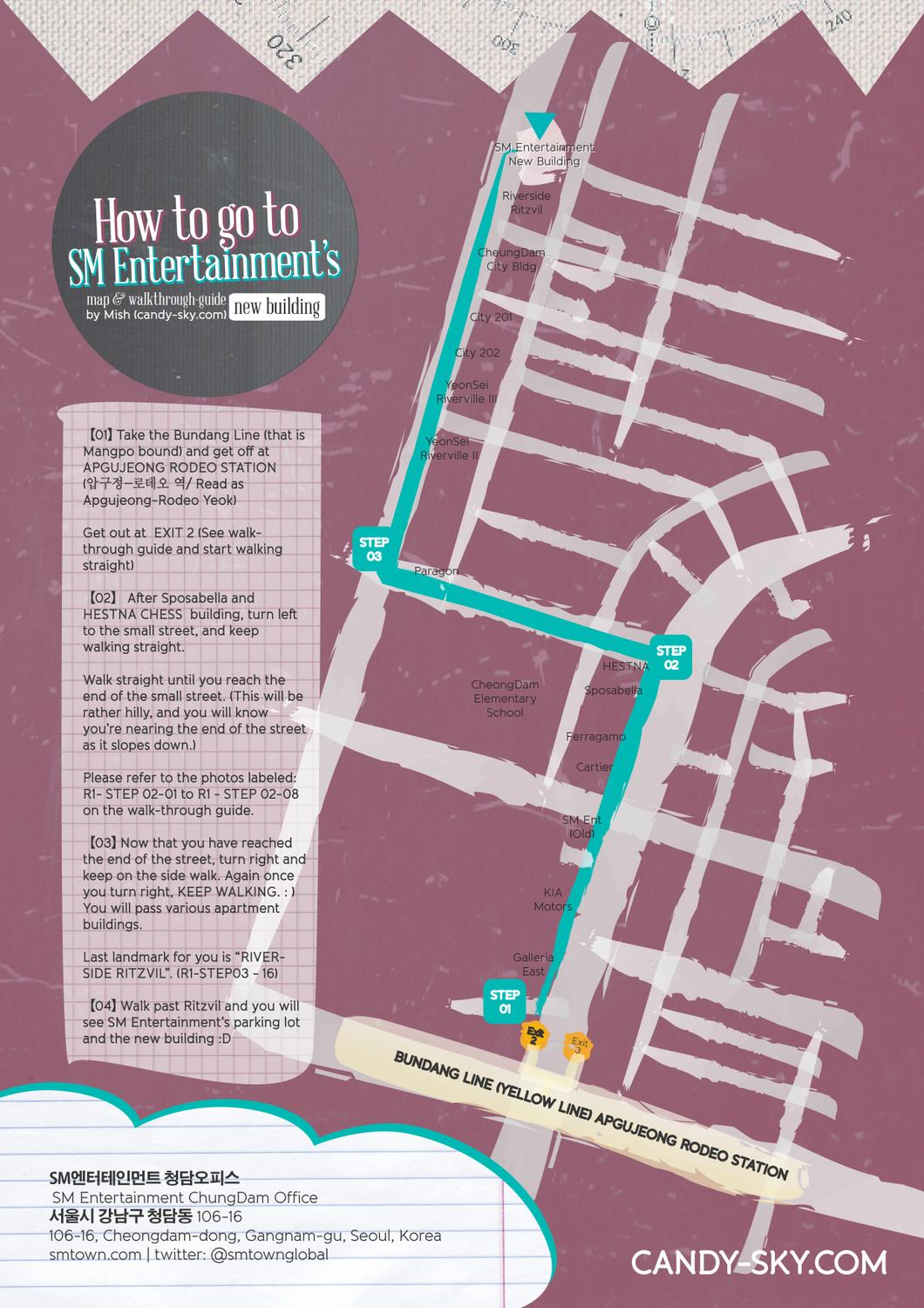 How To Go To Sm Entertainment S New Building Map Walkthrough By Michelle Umali Issuu