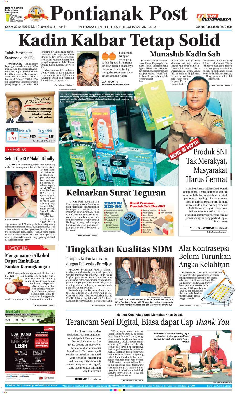 Pontianak Post By Issuu Rkb Bni Tegal Kranjang Buah Nur Fashion And Art