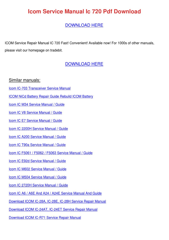 ... Array - icom service manual ic 720 pdf download by kari mabey issuu rh  issuu ...
