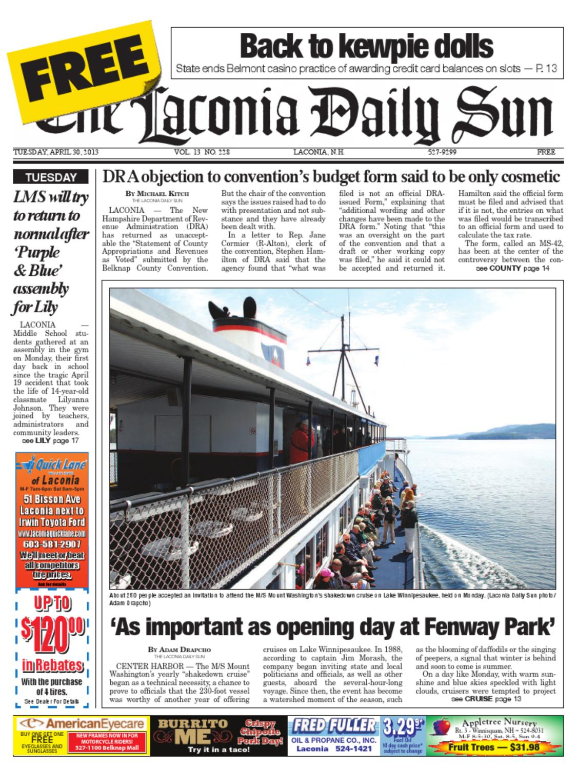The Laconia Daily Sun April 30 2017