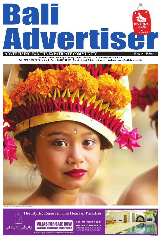 Ba 01 May 2013 By Bali Advertiser Issuu Farfum Colon Garuda Airpot 100ml