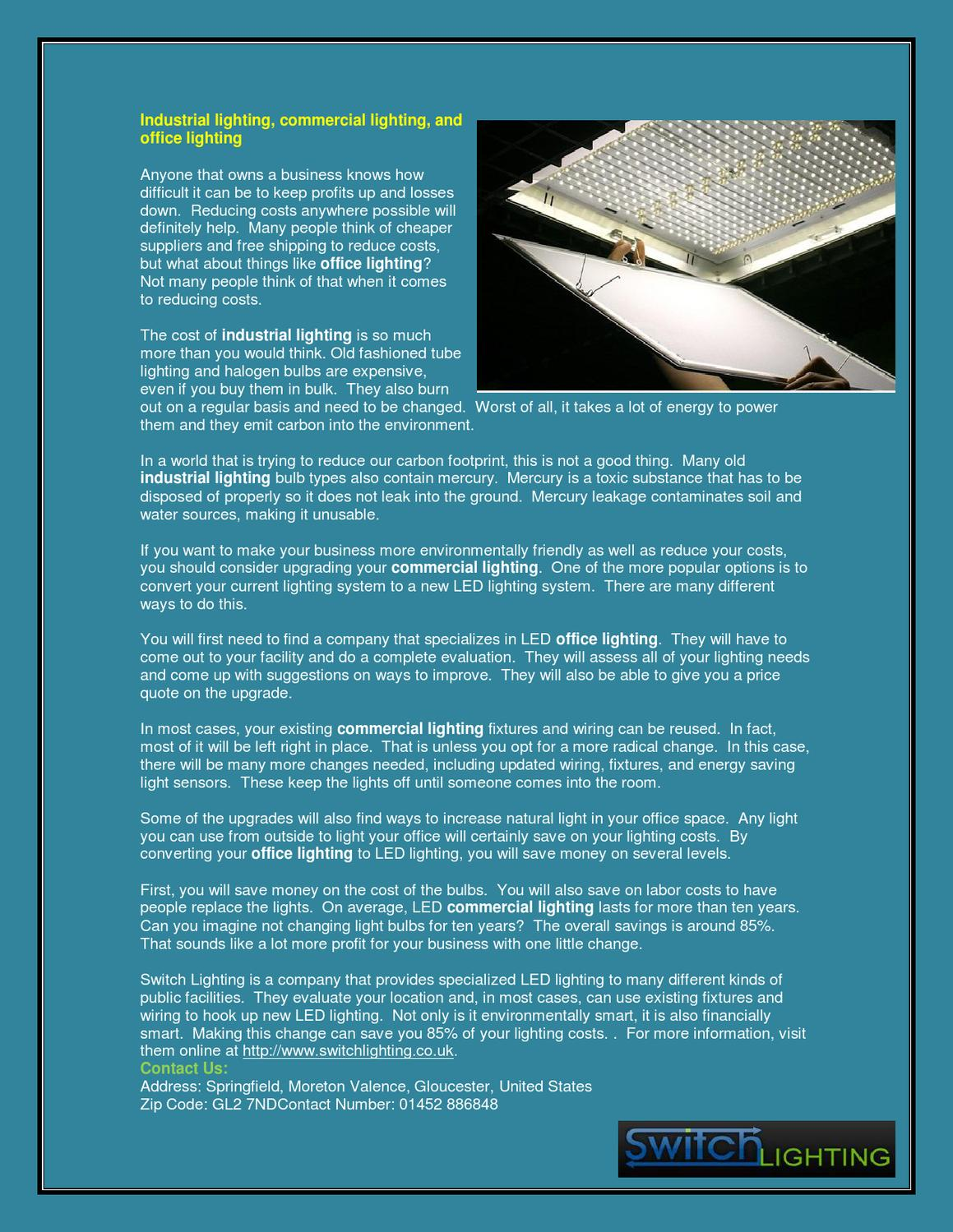 Industrial Lighting, Commercial Lighting, And Office Lighting By Wayne  Graham   Issuu