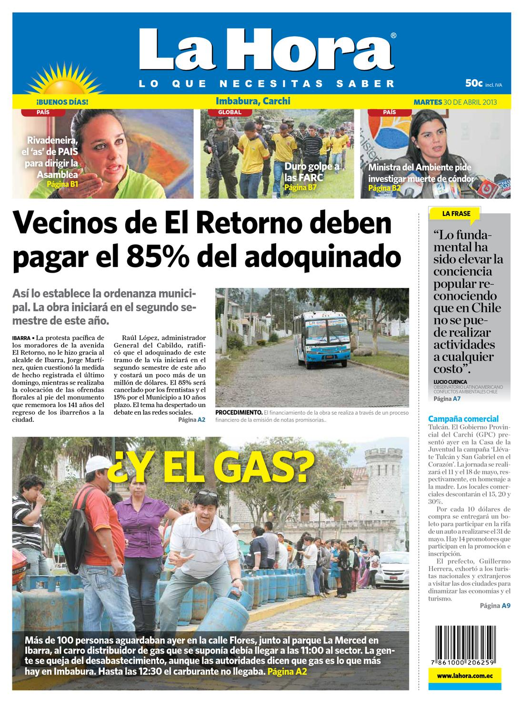 Edici N Impresa Norte Del 30 De Abril De 2013 By Diario La Hora  # Muebles Wimpy Jg