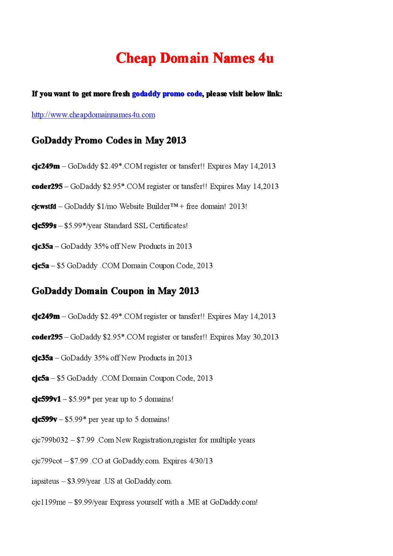 Godaddy Promo Code For Domainhosting By Webber Alex Issuu