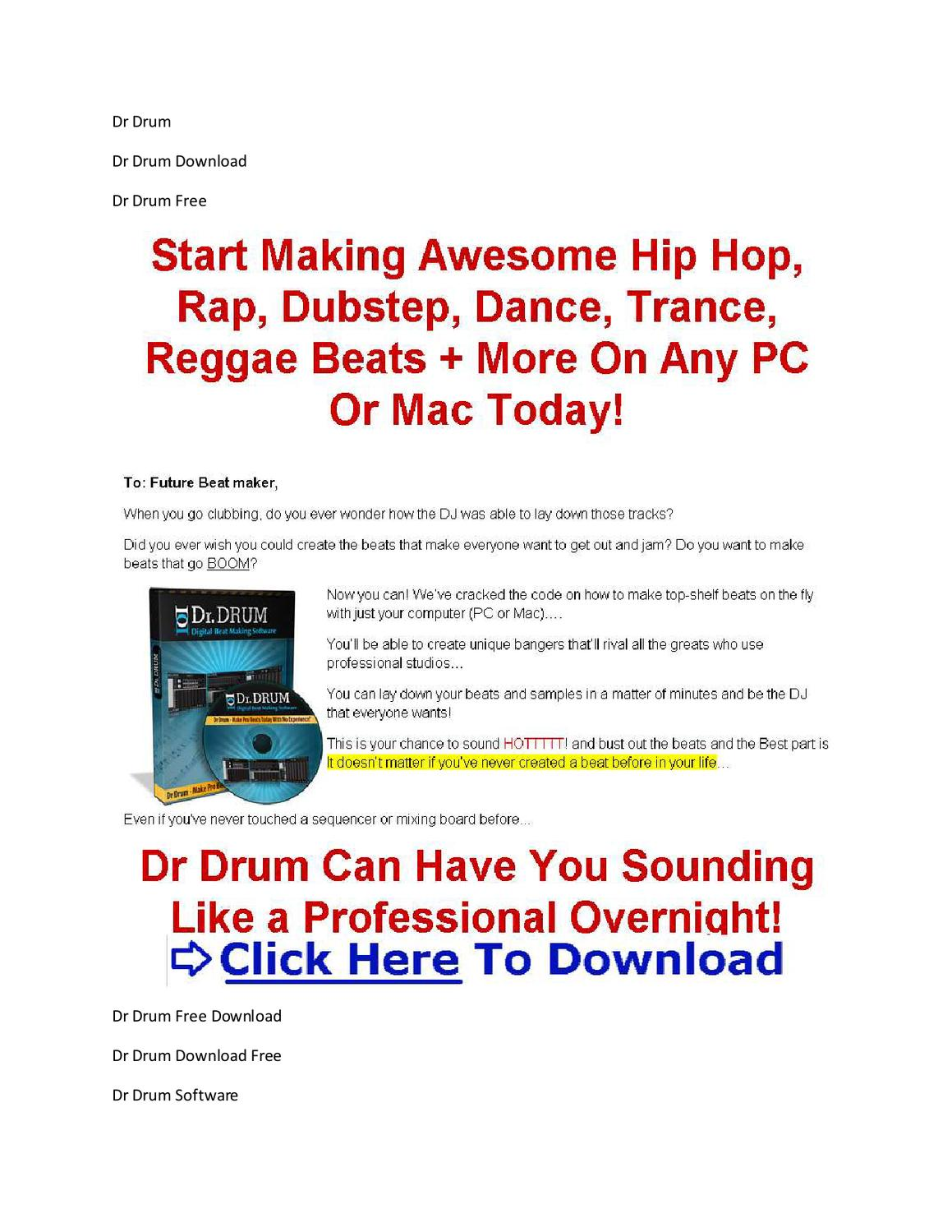 Dr drum free download full version [link inside!! ] youtube.