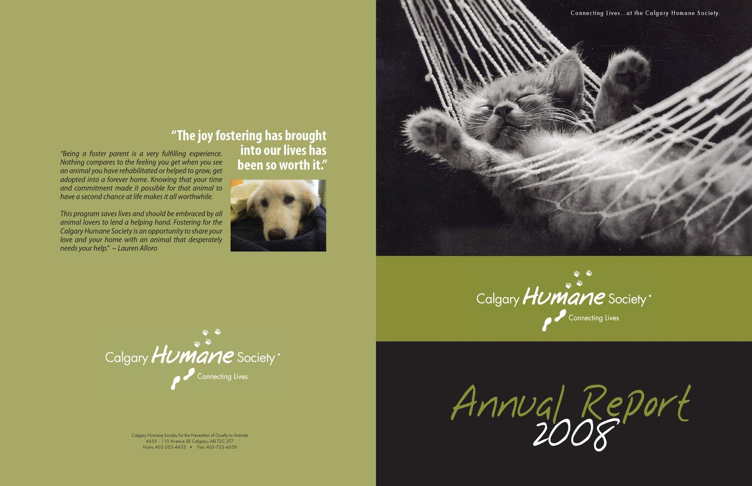 2008 CHS Annual Report by Calgary Humane Society - issuu