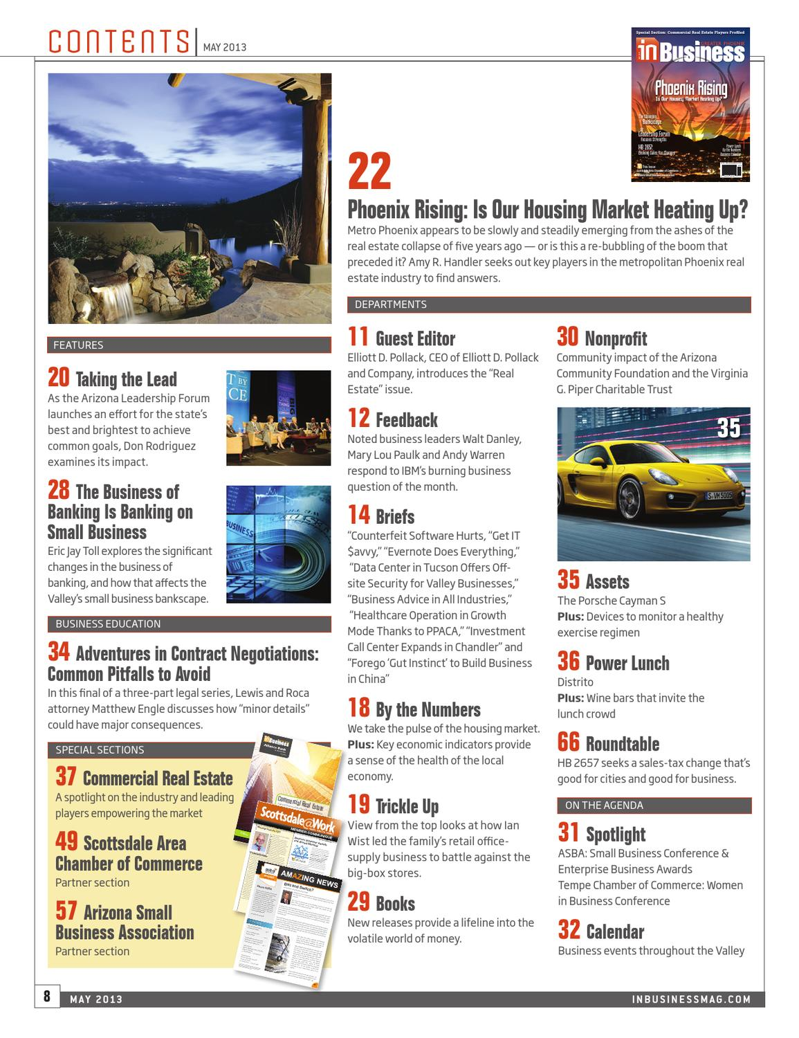 May 2013 In Business Magazine by InMedia - issuu