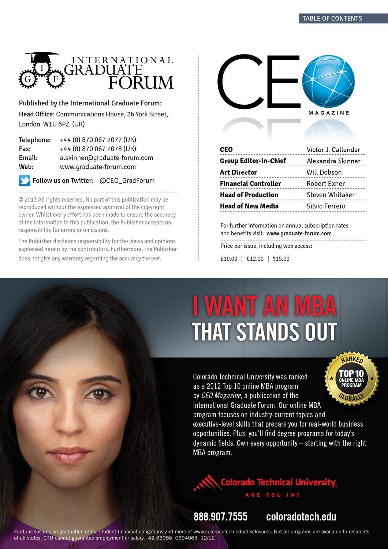 CEO Magazine - Volume 10 by CEO Magazine - issuu