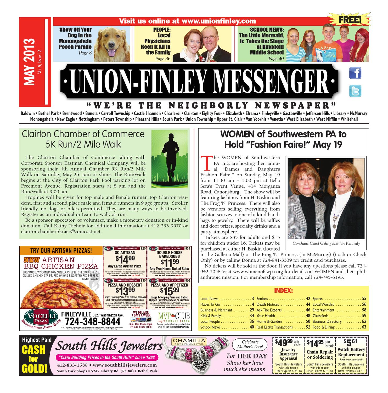 Union Finley Messenger May 2013 by South Hills Mon Valley Messenger