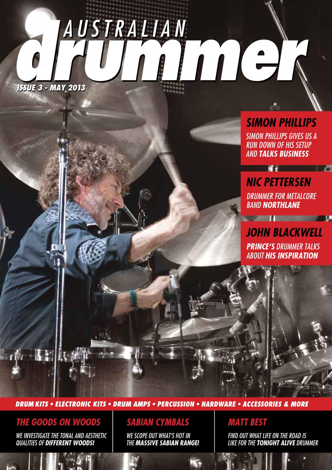 Australian Drummer - Issue 3 by Australis Music - issuu