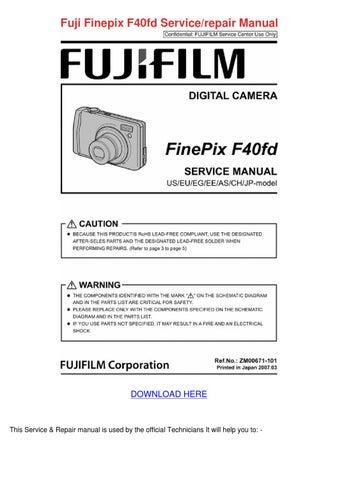 Fuji Finepix F40fd Servicerepair Manual by Shiela Mogren - issuu
