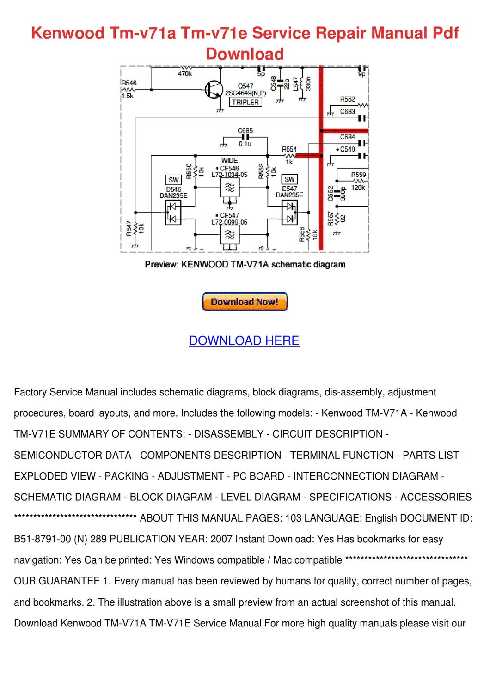 Kenwood tm v71a Manual