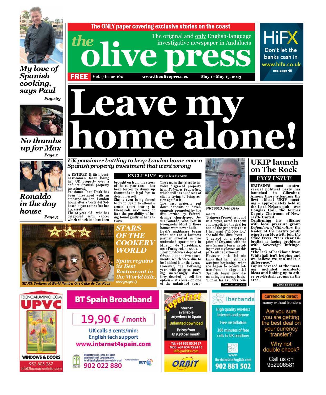 Olive Press Newspaper Issue 160 By Olive Press Newspaper Spain  # Muebles Gucci Santander