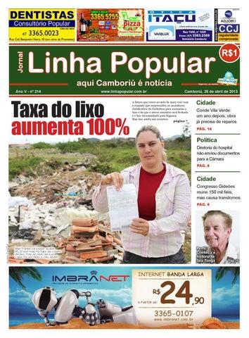 Page 1. Jornal. Linha Popular aqui Camboriú é notícia 6930dce7e03f9