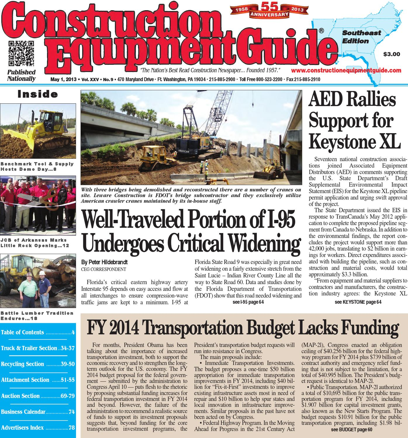 Southeast 9 2013 by Construction Equipment Guide issuu