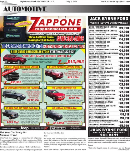 Jack Byrne Ford >> Clifton Park North Pennysaver 050213 By Capital Region Weekly