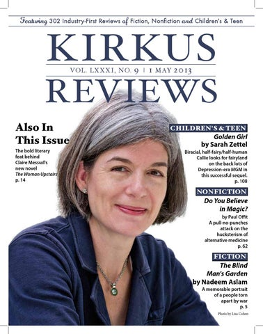 May 01 2013 Volume LXXXI No 9 By Kirkus Reviews