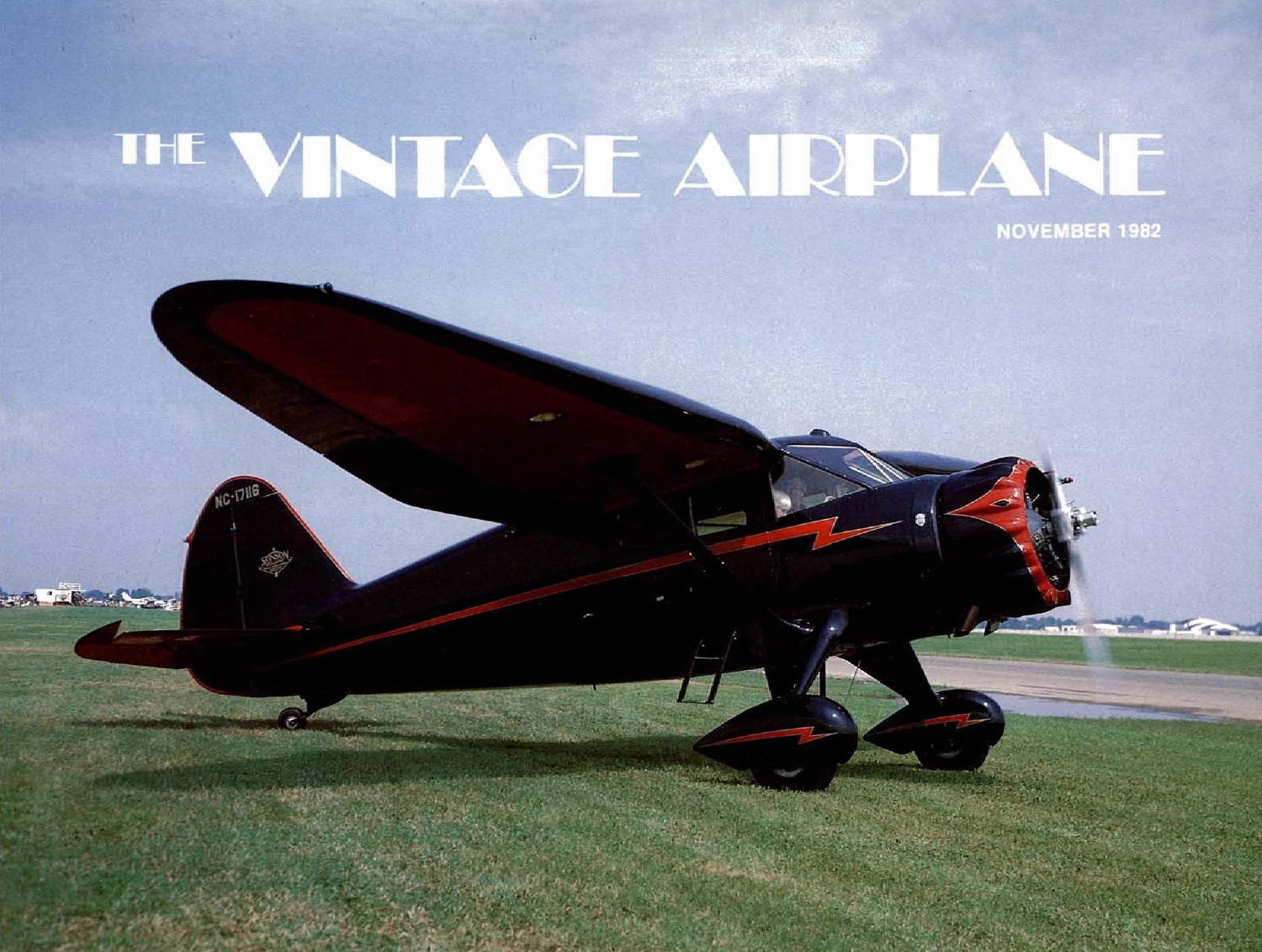 Va Vol 10 No 11 Nov 1982 By Eaa Vintage Aircraft Association