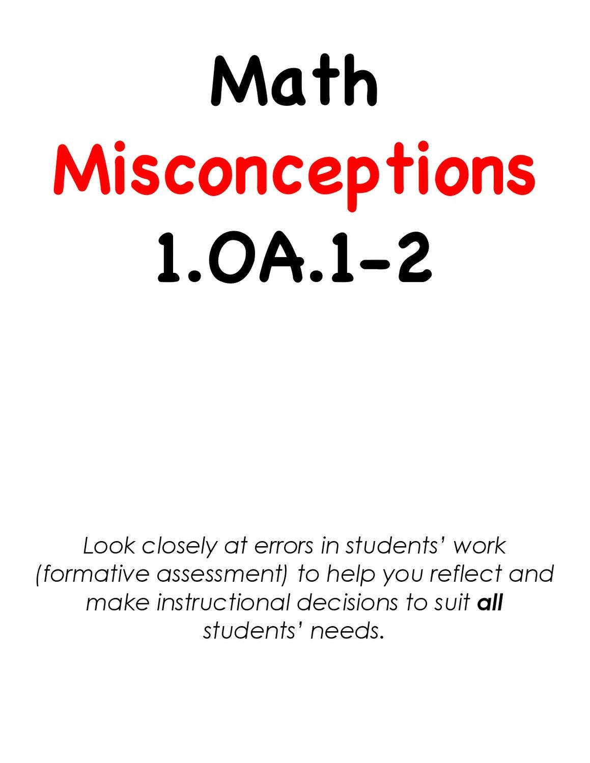 1.OA.1-2 Math Misconceptions by BLAST CPD - issuu
