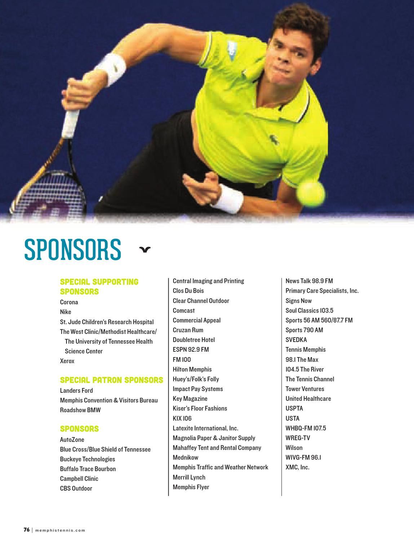 US National Indoor Tennis Championships Program by
