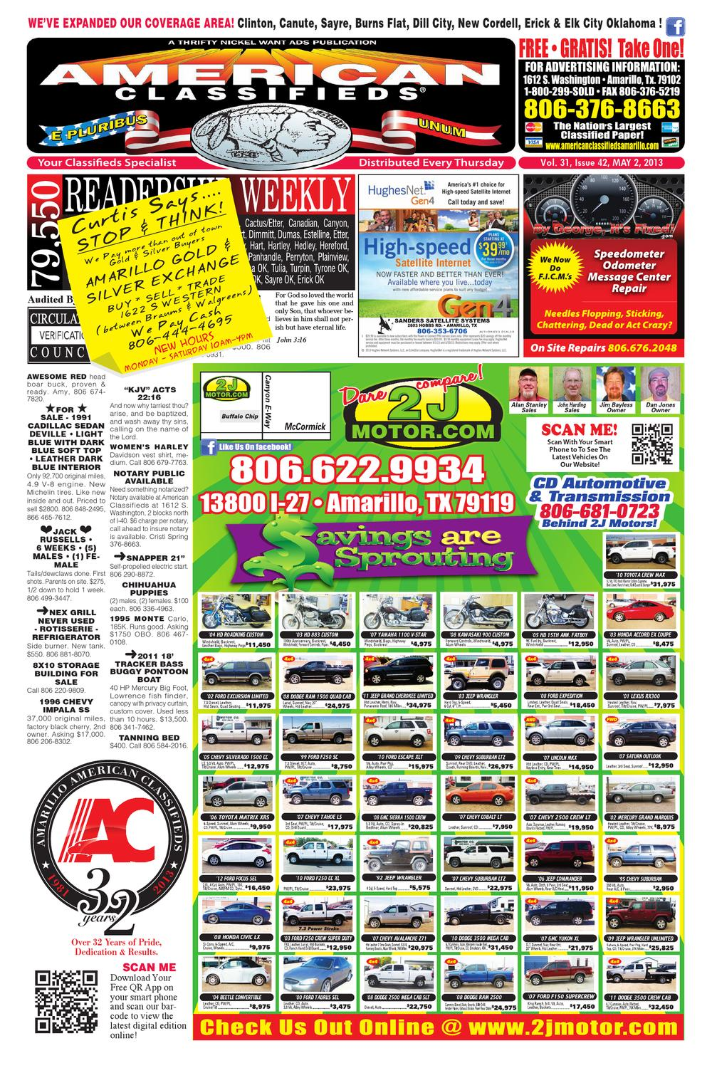 American Classifieds | Amarillo, TX | May 2, 2013 by