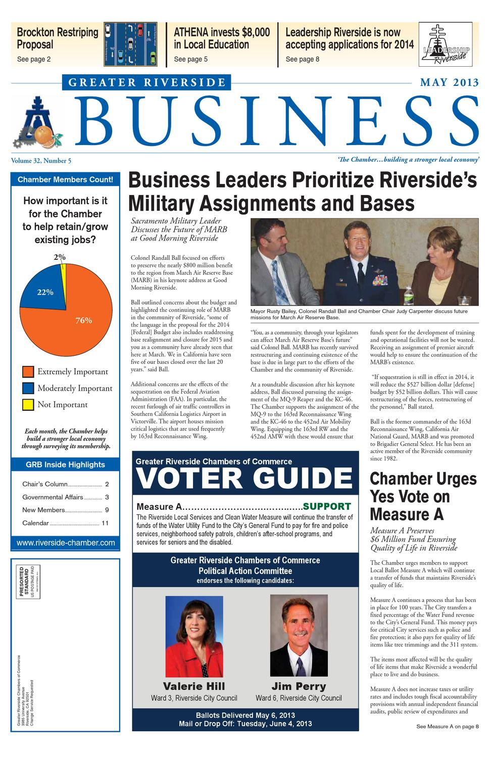 Greater Riverside Business - May 2013 Issue by Greater Riverside