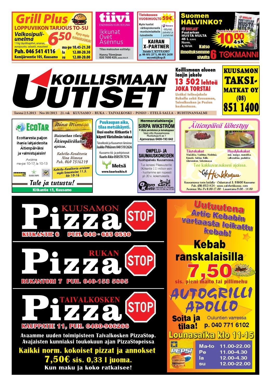 Koillismaan Uutiset 18 2013 by Koillismaan Uutiset Oy - issuu 98f3a0e067