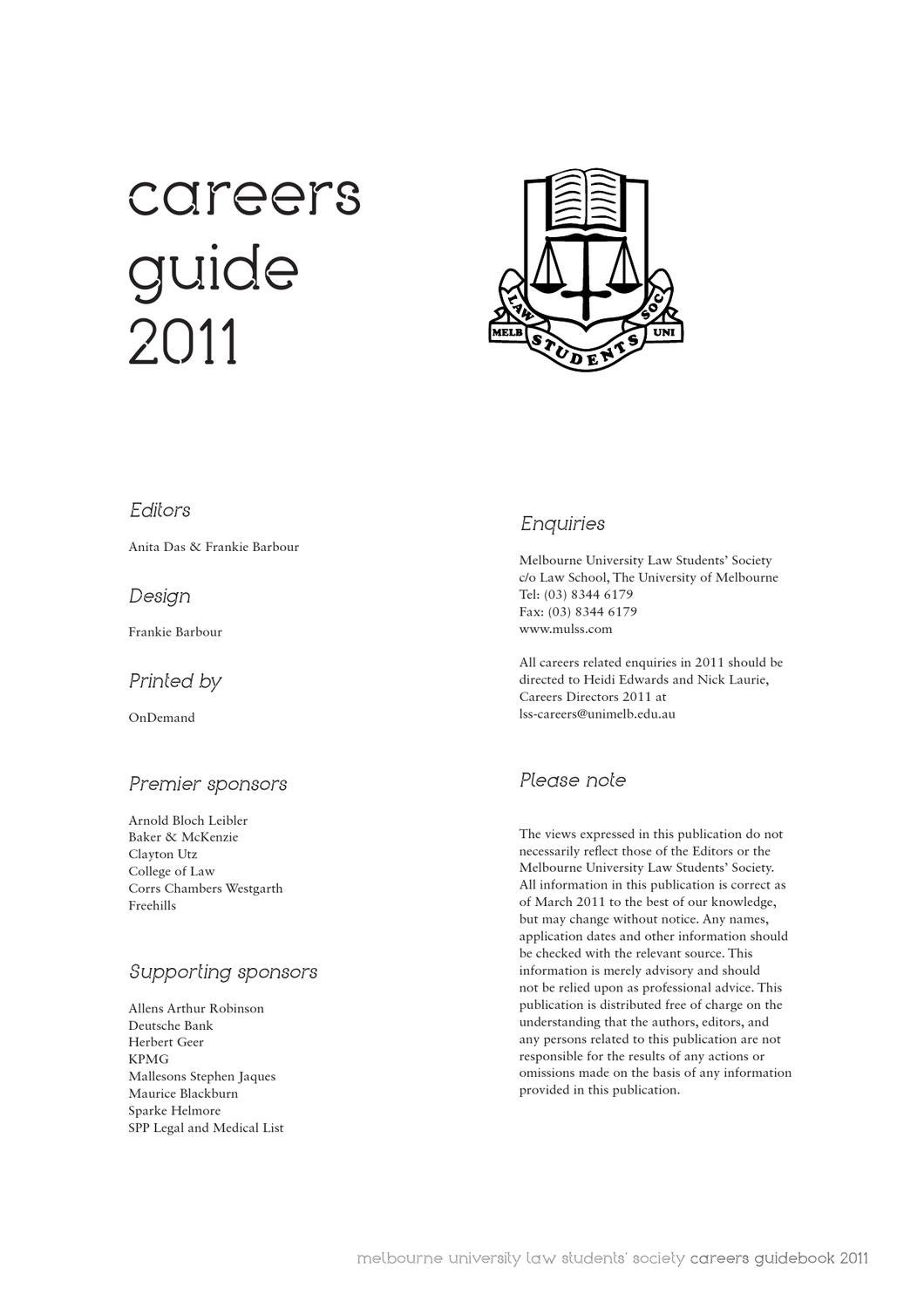 careers guidebook 2011 by mulss issuu