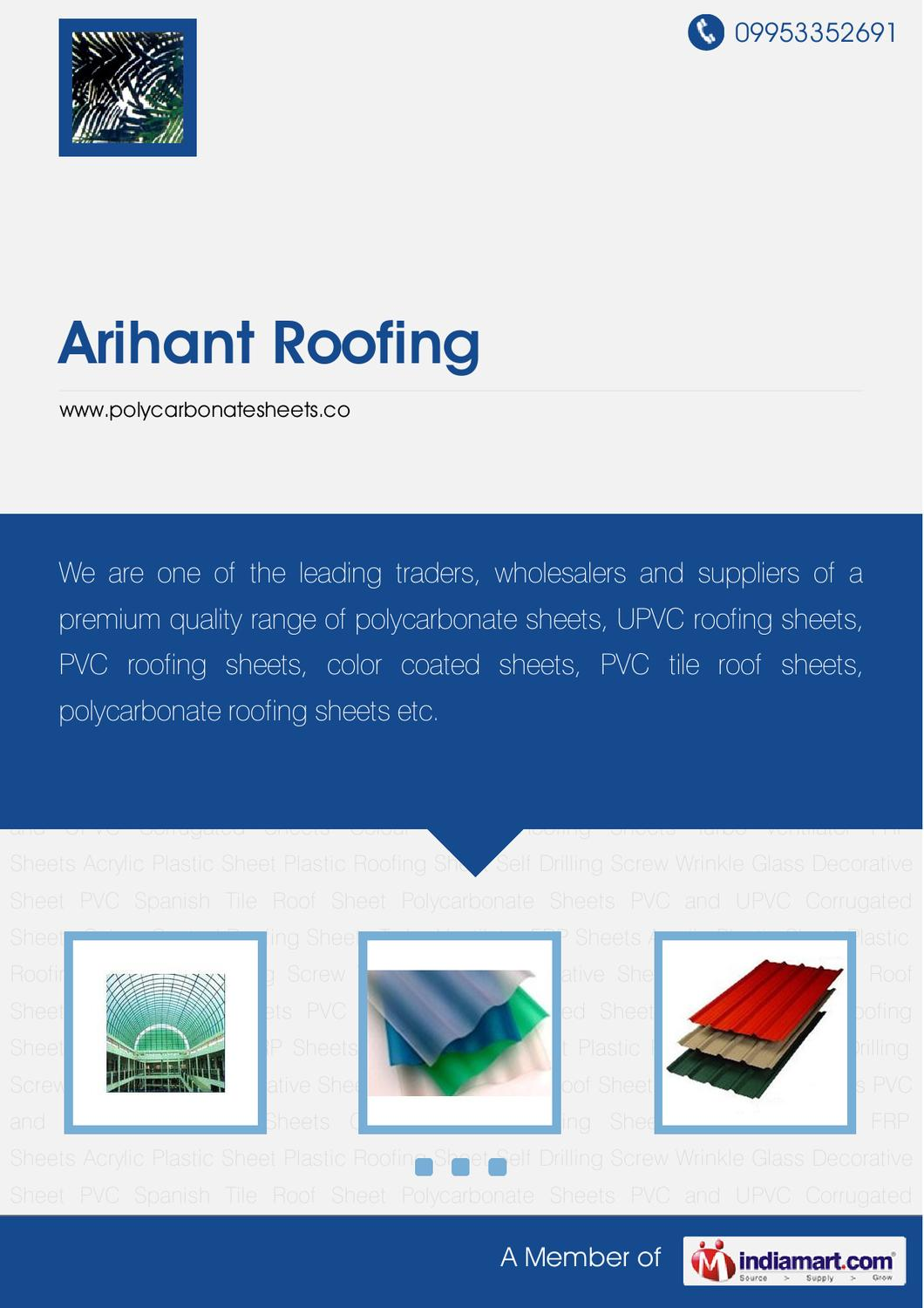 PVC and UPVC Corrugated Sheets By Arihant roofing by Arihant