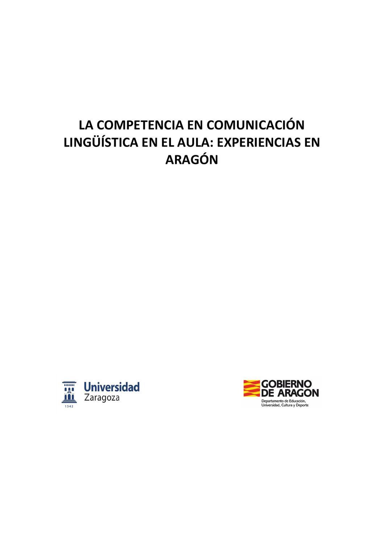 La competencia en comunicación lingüística en el aula. by Concepción ...