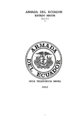 guia naval by armada del ecuador issuu