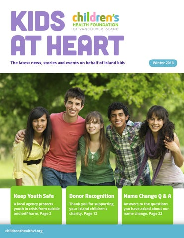Kids At Heart Winter 2013 By Childrens Health Foundation Of